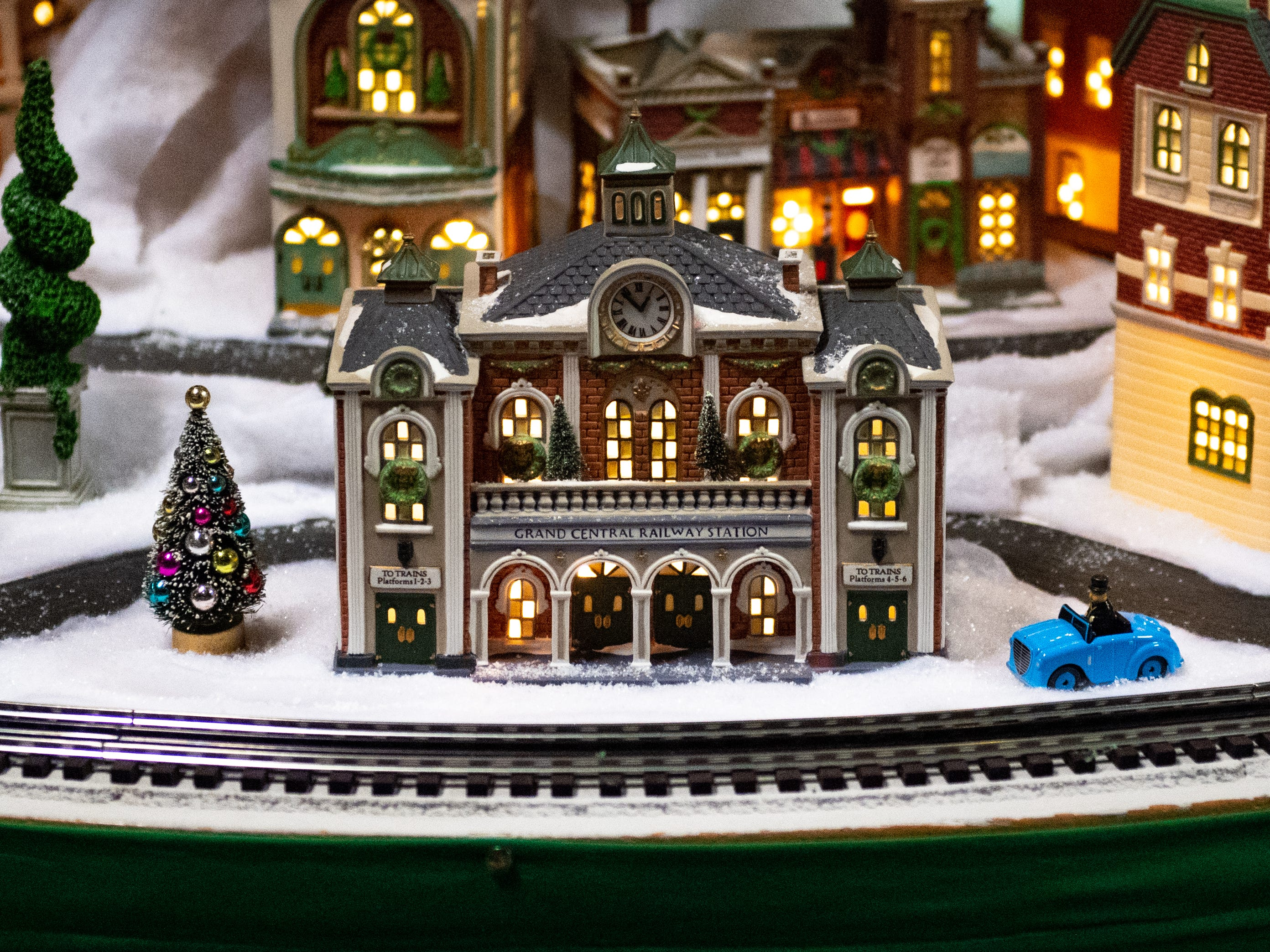 Some rooms at Christmas Magic 2018 are filled with model trains and cities, Thursday, November 29, 2018.