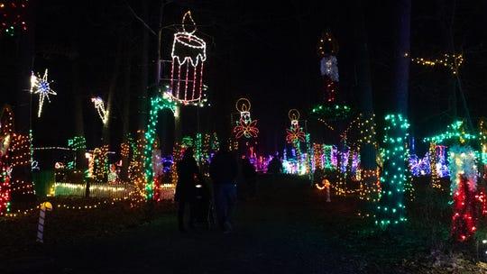 Thousands of lights shine bright at Christmas Magic 2018 at Rocky Ridge County Park in Springettsbury Township, Thursday, November 29, 2018.