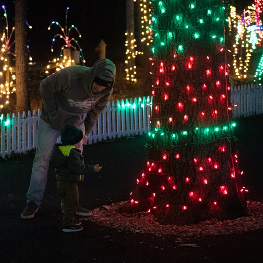 Thousands of lights shine bright at Christmas Magic 2018 at Rocky Ridge County Park in Springettsbury Township.
