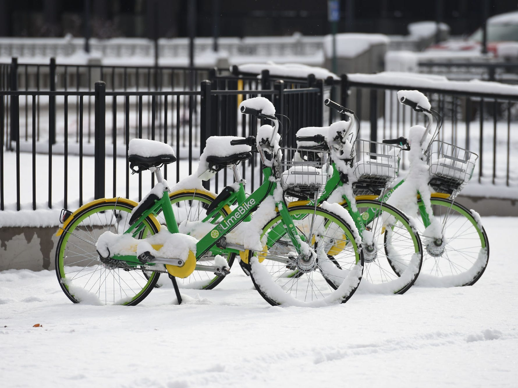 Photos from Reno's first snow day on Wednesday Dec. 5, 2018.