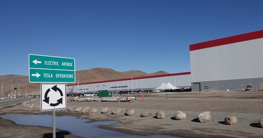 Tesla's Nevada Gigafactory on Dec. 3, 2018.