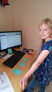 It took Natalie Gregory, a Cold Springs Middle School student about 90 minutes to do work for her digital learning day.