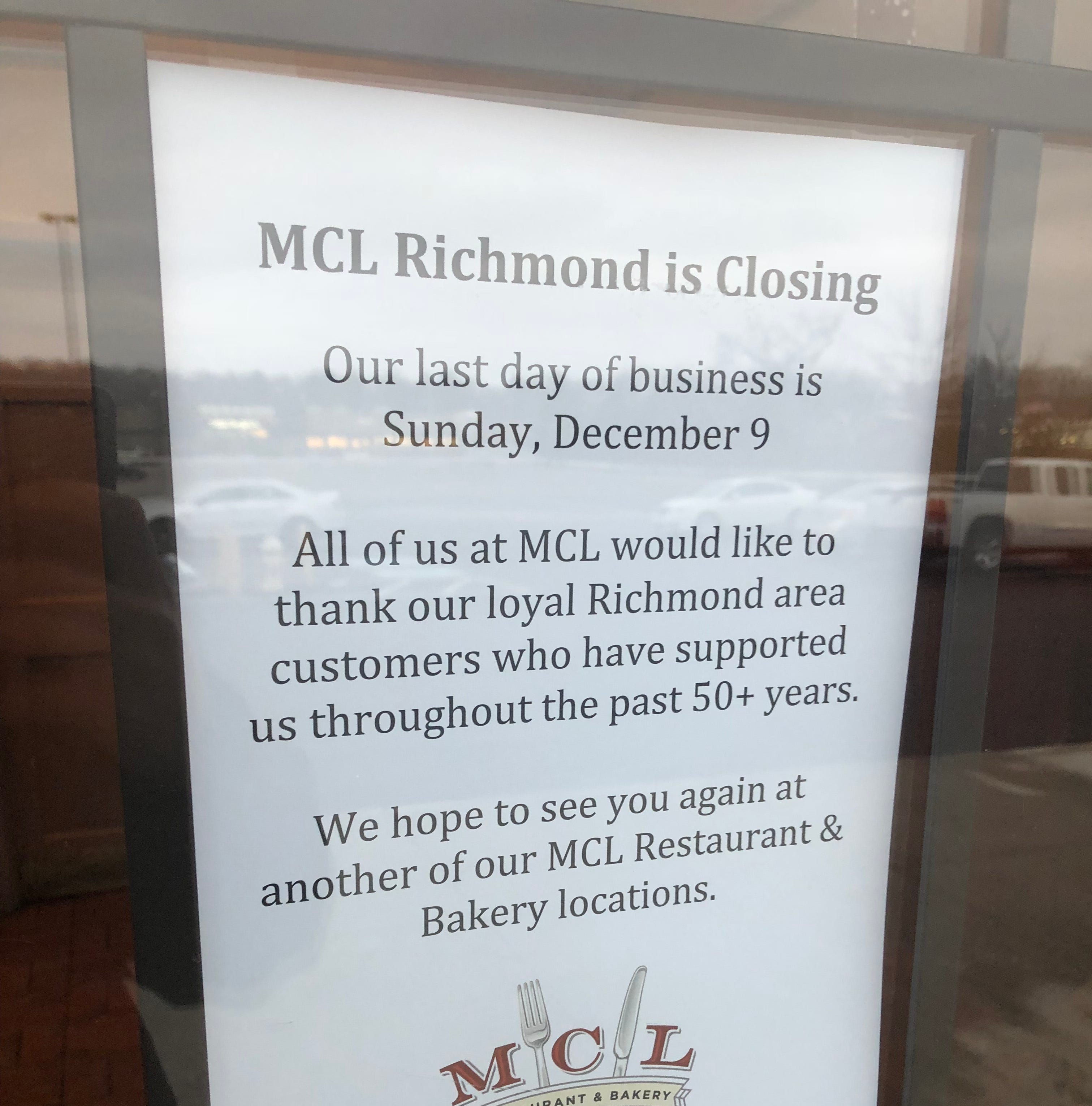 MCL official: Hoped-for turnaround never came for Richmond location