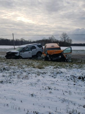 An accident west of Liberty on Indiana 44 killed a Connersville woman Wednesday morning.