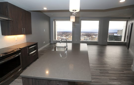 The view of one of the apartments available in The Metropolitan downtown.