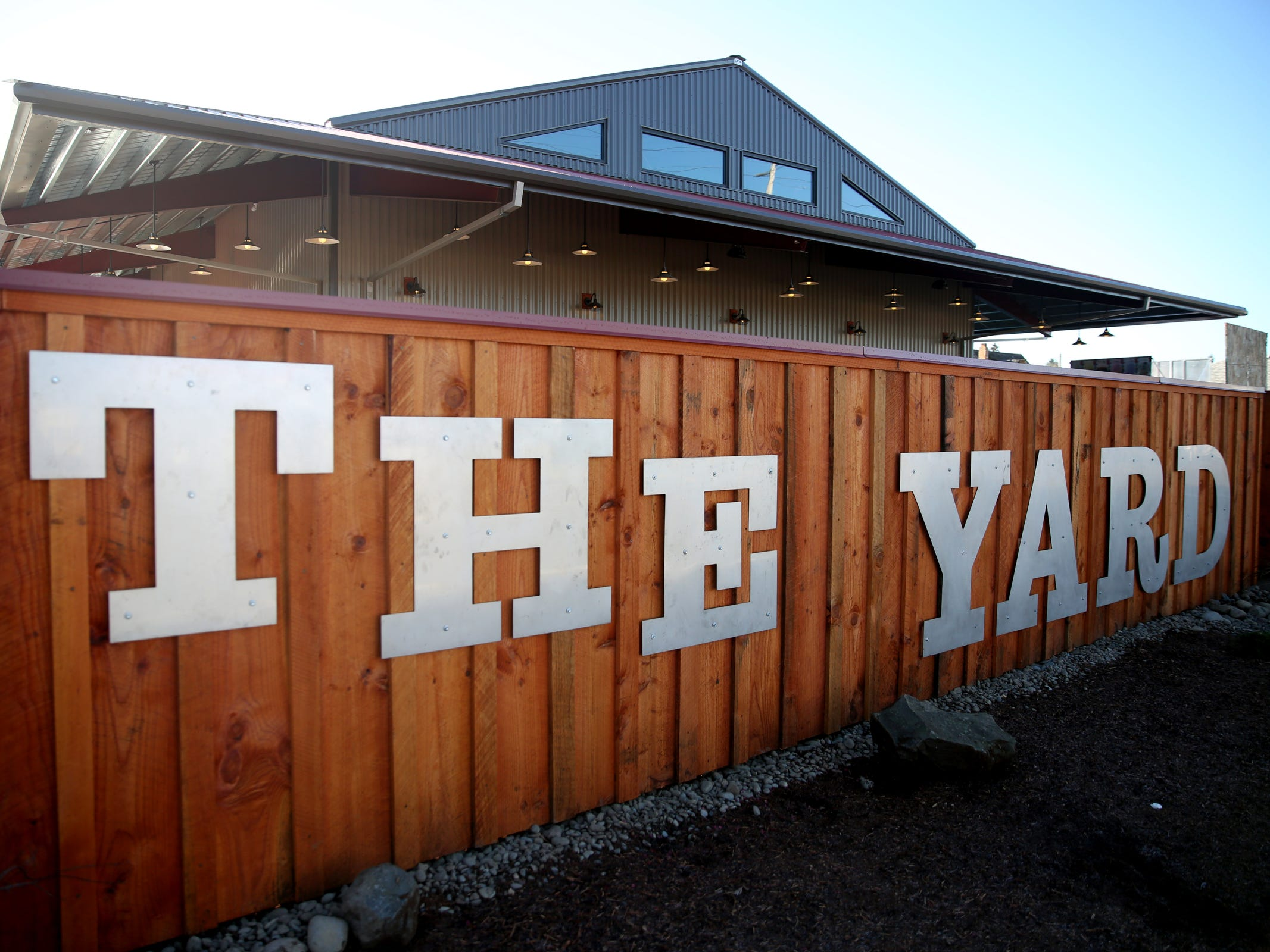 The Yard Food Park as seen from State Street in Salem on Wednesday, Dec. 5, 2018. When it opens, The Yard will essentially be part coffee shop, part bar, part event space, and part food truck food court.