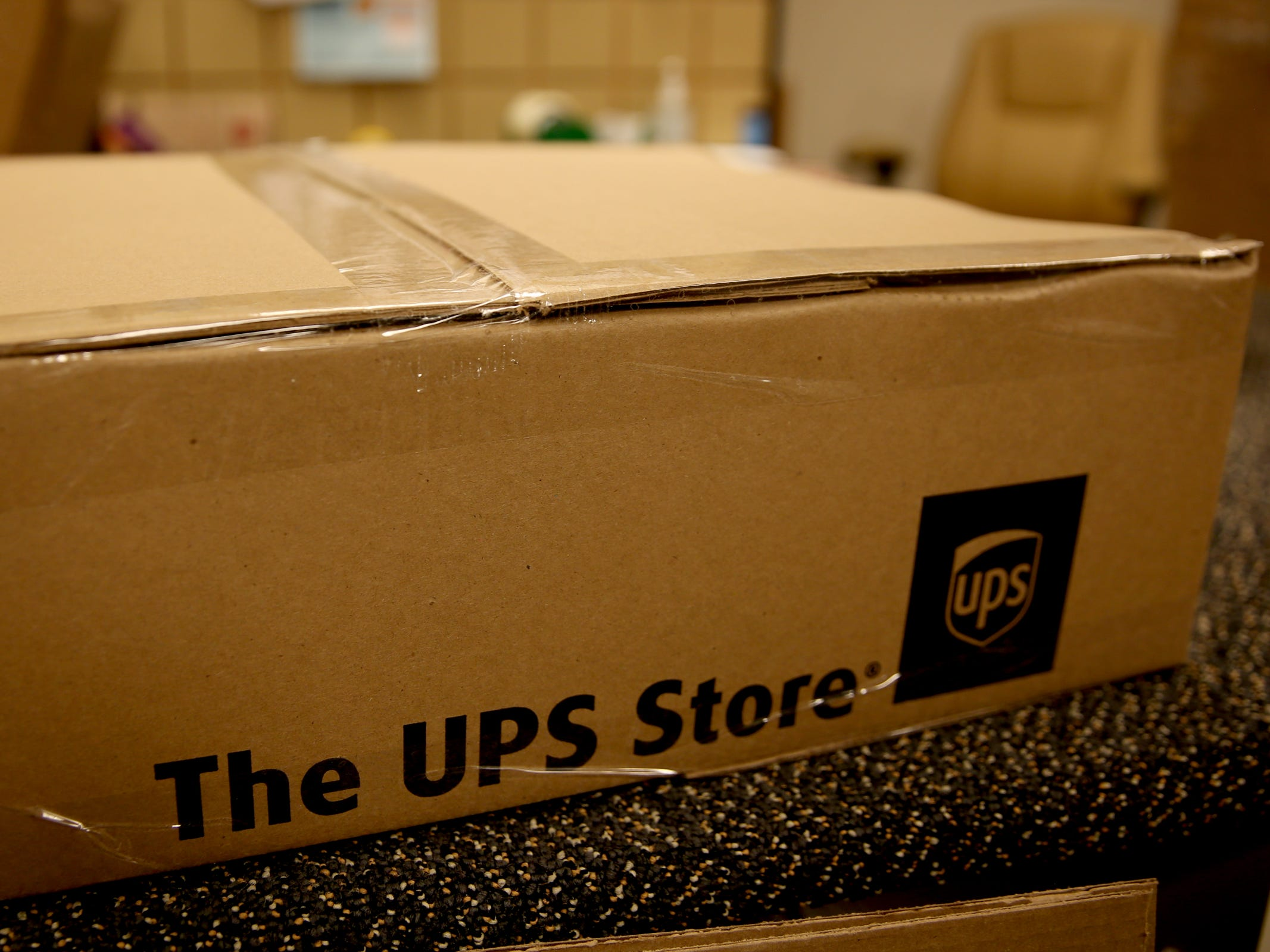 Packages are ready for delivery at the UPS Store on Commercial St. SE in Salem on Tuesday, Dec. 4, 2018.