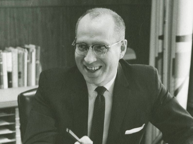 Dr. Glenn A. Olds was president at Springfield College in Massachusetts, where he refused to bow to pressure by the FBI to rescind an invitation to Martin Luther King in 1964 to speak at commencement.