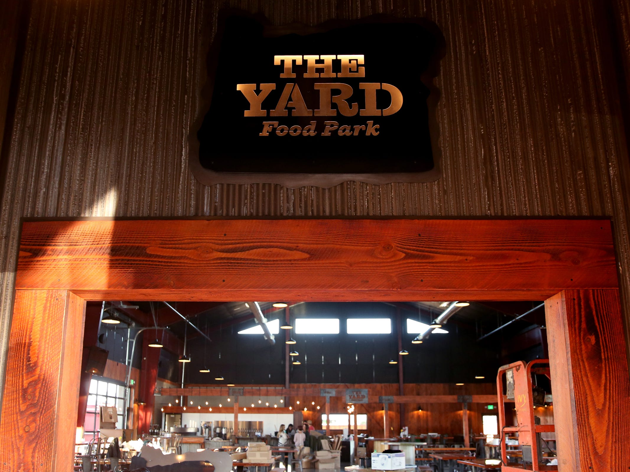 The Yard Food Park in Salem on Wednesday, Dec. 5, 2018. When it opens, The Yard will essentially be part coffee shop, part bar, part event space, and part food truck food court.