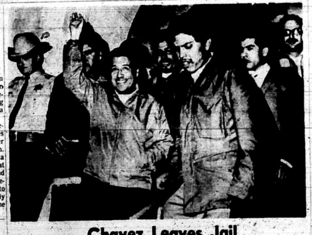 Chavez Leaves Jail, Dec. 24, 1970