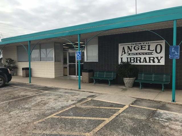 storefront of the Tom Green County Library North Angelo Branch, 3001 N. Chadbourne St., on Wednesday, Dec. 5, 2018.