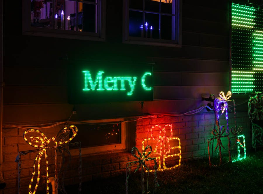 50,000 lights set to music illuminate a Lewes home for the holidays on Tuesday, Dec 4, 2018.
