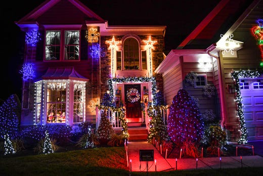 50,000 lights set to music illuminate a Lewes home for the holidays on  Tuesday, Dec - Lewes Home Puts On Animated Christmas Show With 50,000 Lights