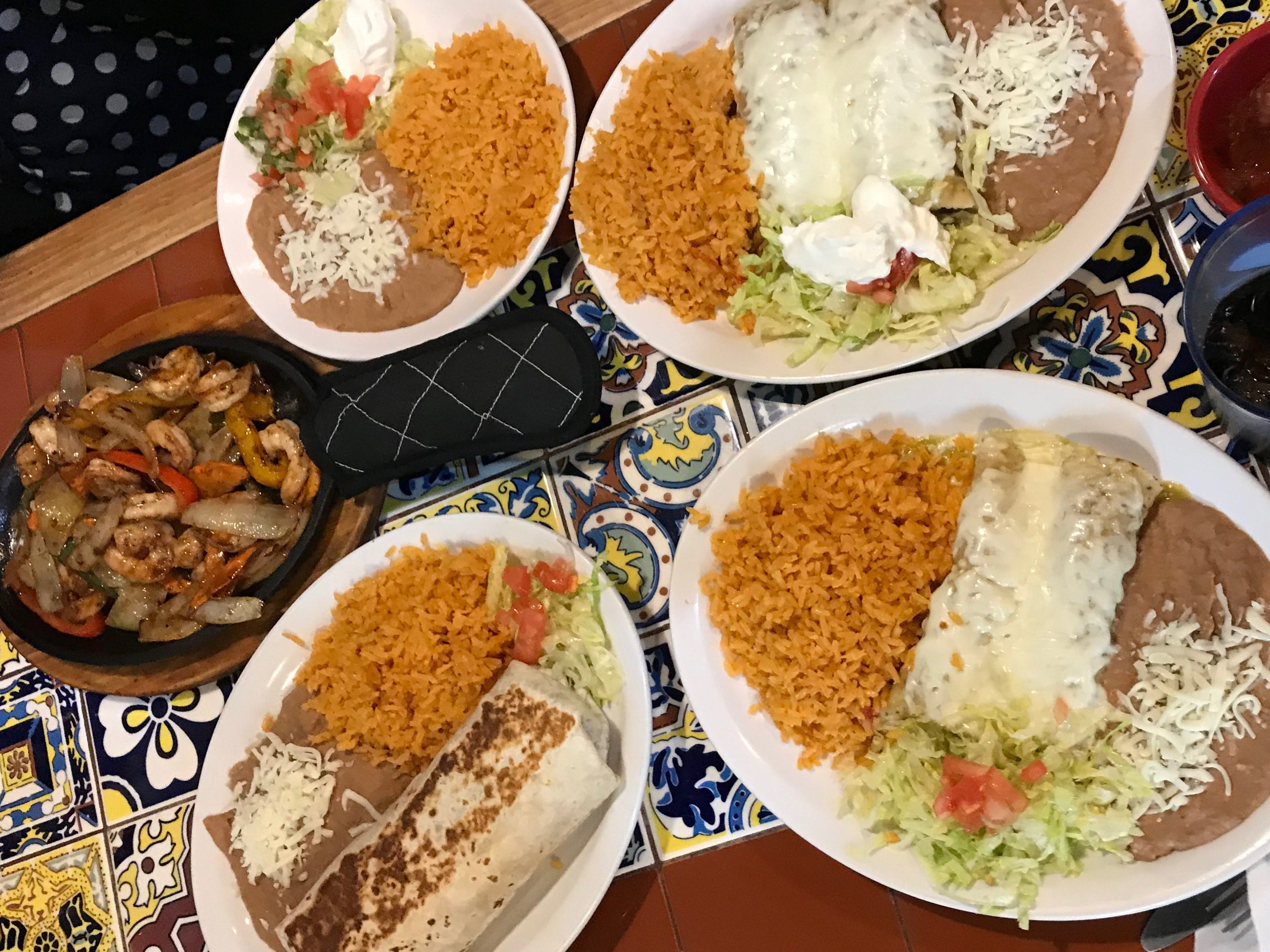 The Press staff's food during lunch on Tuesday, Dec. 4 at 2 Amigos.