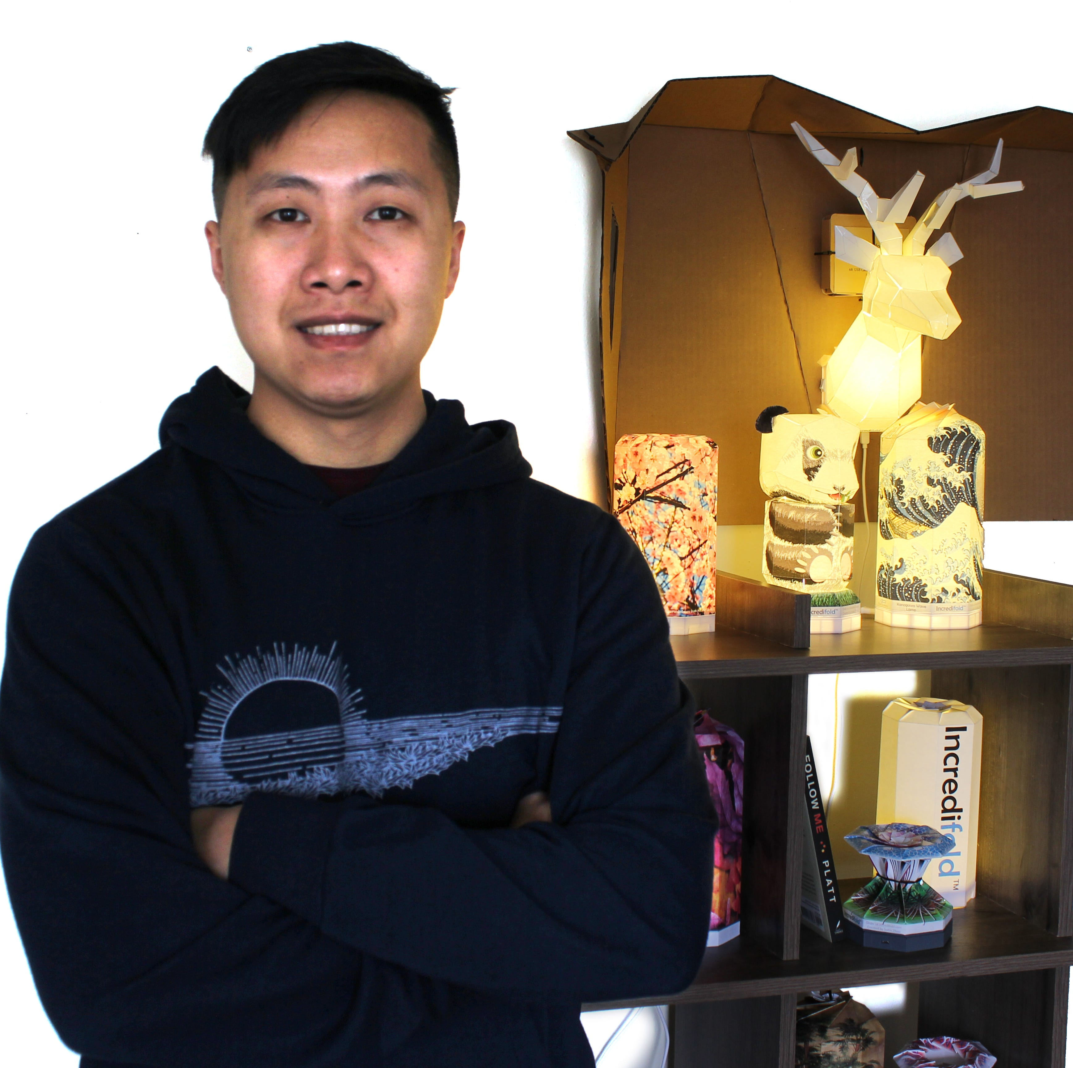 Sheboyganite turns origami hobby into lamp business| Streetwise