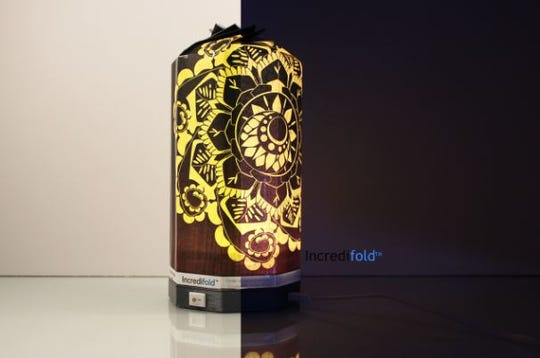 Golden Mandala Photo Lamp