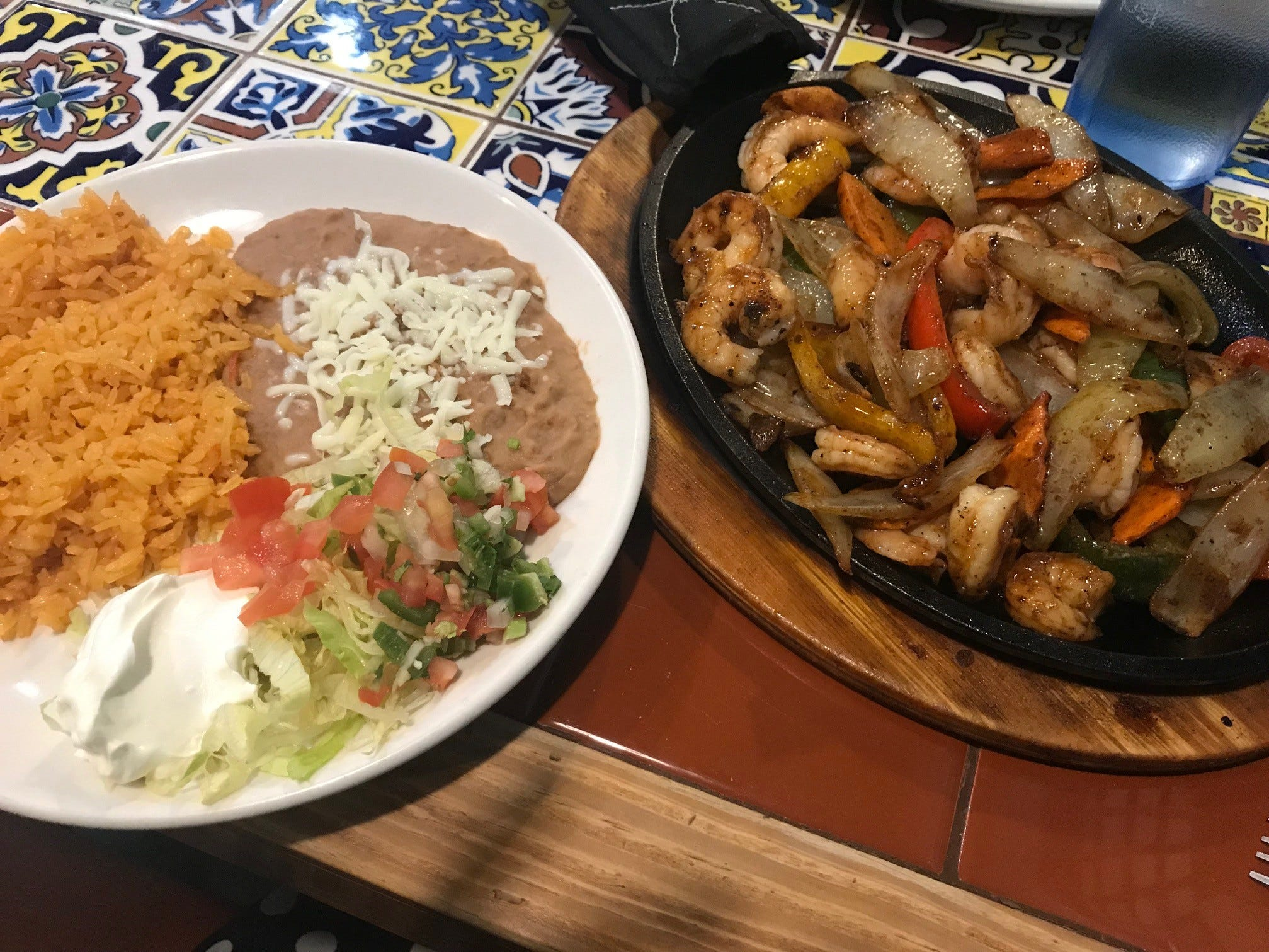 Marina Affo's shrimp fajitas during lunch on Tuesday, Dec. 4 at 2 Amigos.