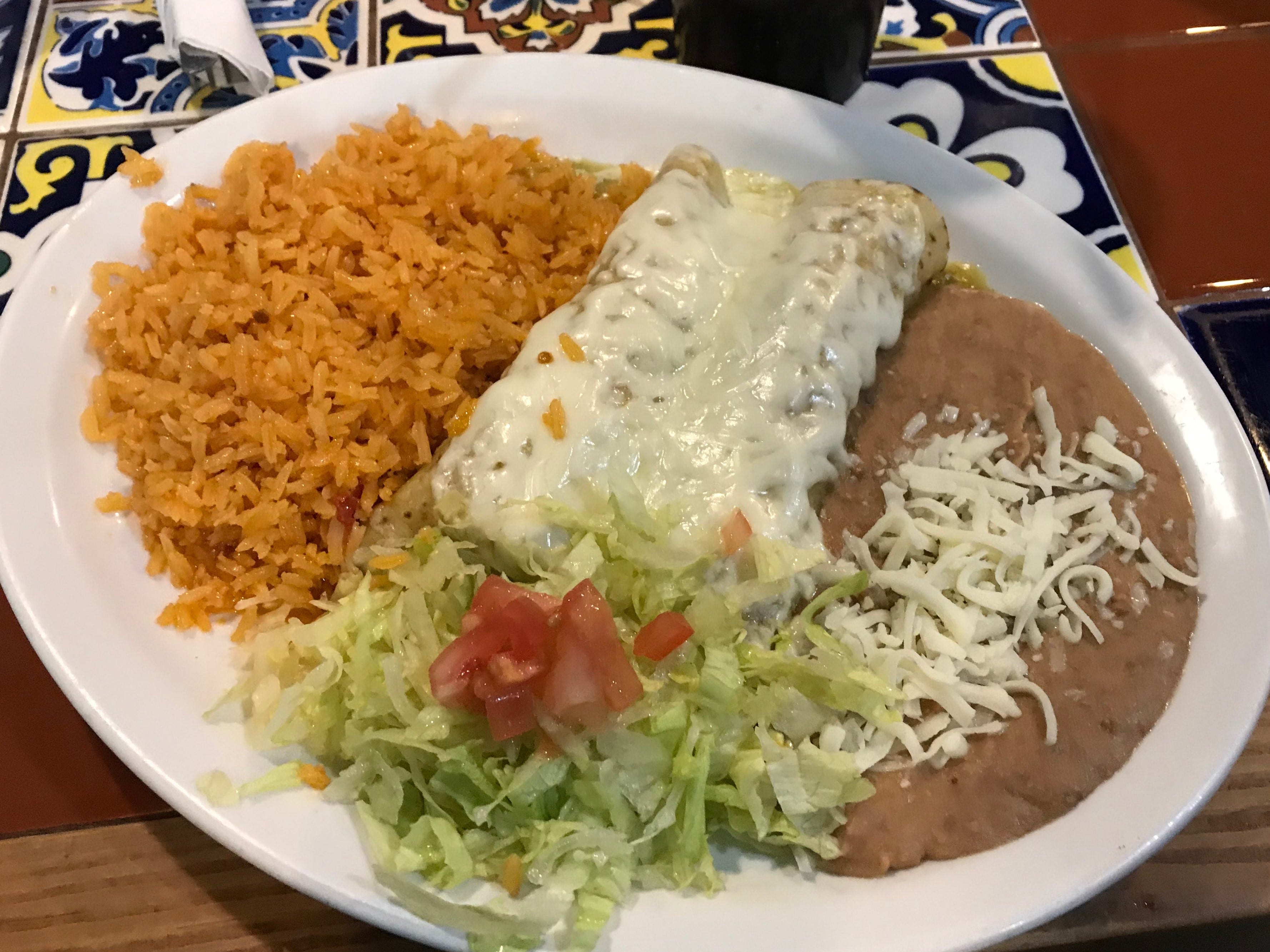 Gary Klein's enchiladas during lunch on Tuesday, Dec. 4 at 2 Amigos.