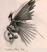 William Joyce's illustration of Queen Toothiana, a character in The Guardians of Childhood series.