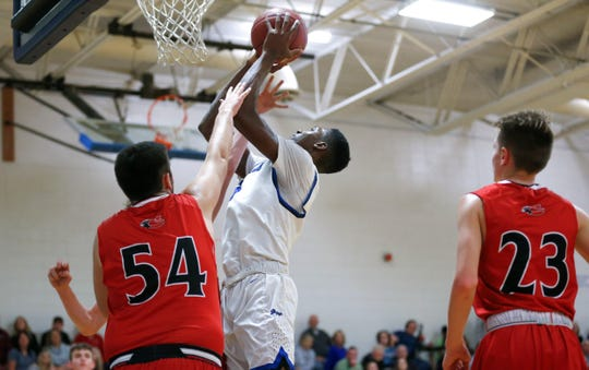 Greenwood Laboratory School sophomore Aminu Mohammed during a game against Chadwick High School on Tuesday, Dec. 4, 2018.