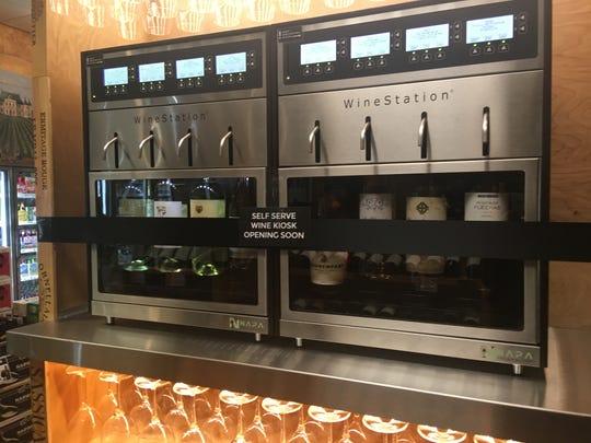 Brown Derby's recent addition: a wine kiosk.