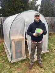 Brian Carlstrom began growing microgreens in his back yard earlier this year.