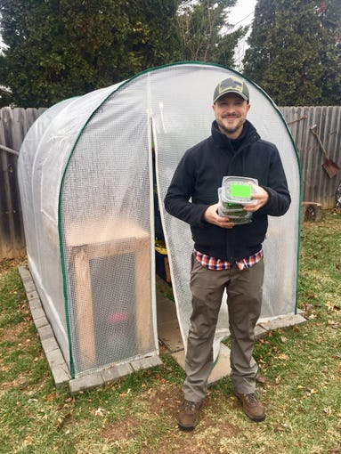 Brian Carlstrom began growing microgreens in his back yard earlier this year.