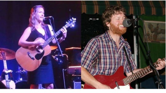"""Katherine Easterling airs out her fine tunes with Brett Eugene after the Tallahassee Writers Association """"Writes and Speaks"""" Thursday."""