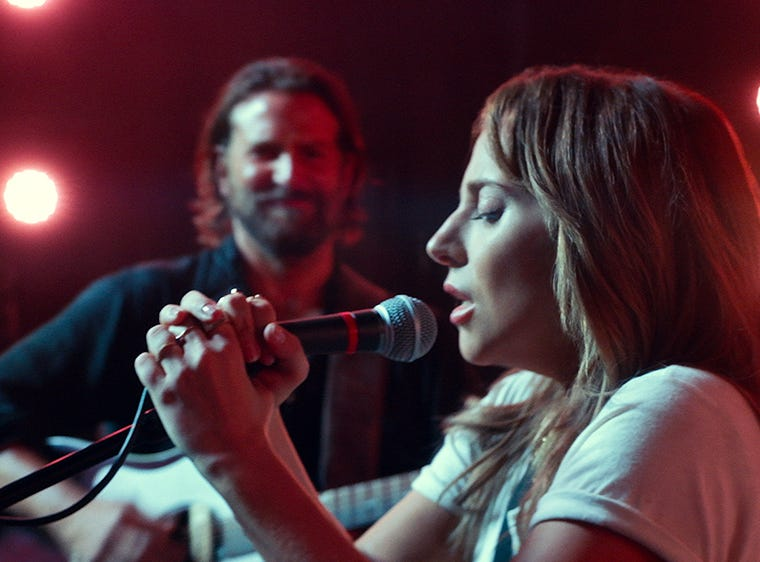 "9) ""A Star is Born"" — The combination of stellar performances by Lady Gaga and Bradley Cooper, spectacular musical performances and a heartbreaking romance all make ""A Star is Born"" a singular achievement — one that can stand alongside and even above its beloved earlier versions of the tale. (Streaming February)"