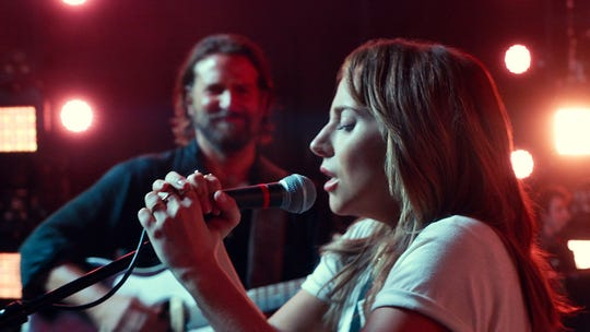 """Lady Gaga and Bradley Cooper in """"A Star is Born."""""""