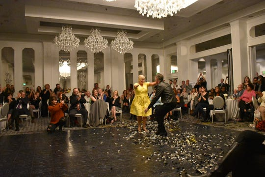Dina Foster shows off her moves at the 2017 Dancing with the Stars Tallahassee event.