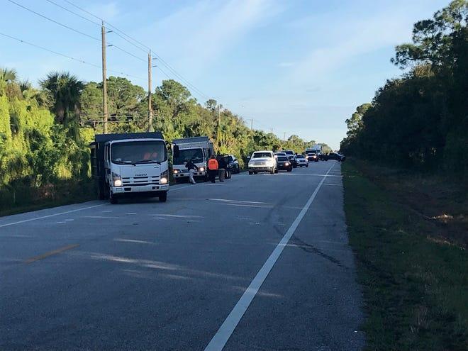 A fatal crash near Southwest 96th Street and Southwest Citrus Boulevard blocked the road Dec. 5, 2018.
