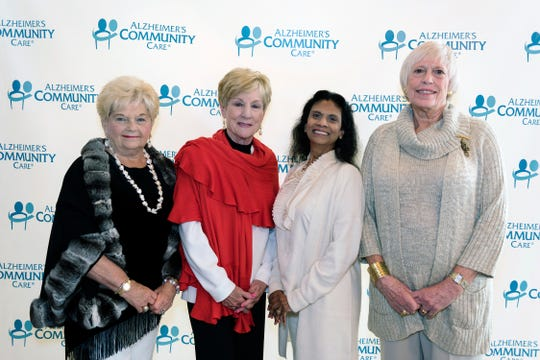 Dolores Lashkevich, left, Melanie Fenner, Gytha Von Aldenbruck and Rita May Wright, former and current chairs for Alzheimer's Community Care's annual Seasons of Life luncheon.