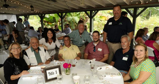 Becky Bruner, Joe Catrambone, Stacy Ranieri, Alex Trovato, Patrick Hayes, Ryan Huff, Brett Zurich, Chris Roden, Melissa Corbett enjoyed a locally-sourced meal created by Chef Ron Kerr, owner of Southfork Kitchen and Bar, and presented by Carl Frost and Diane Cordeau, owners of Kai-Kai.