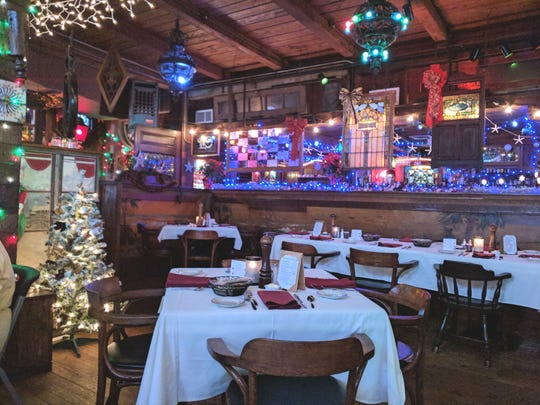 Inside Ocean Grill which is dressed up for the holidays at 1050 Sexton Plaza in Vero Beach.