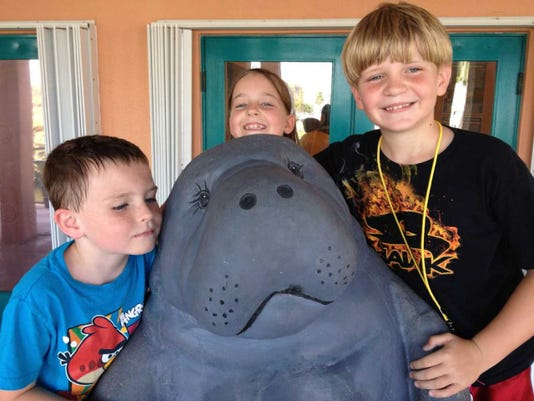 Kids With Moe The Manatee