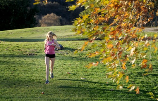Sarah Shulze won the Coastal Canyon League title, the CIF-Southern Section Division 3 title and took second in the Division III state meet in her final cross country season at Oak Park.