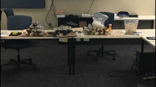 Authorities say this evidence was seized during the arrest of Jose Huete, 42, of Los Angeles.