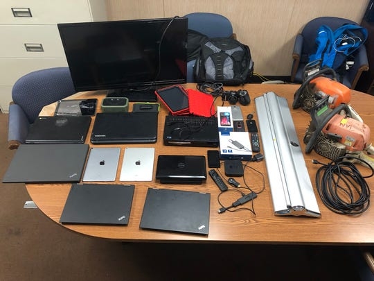 Stolen iPads and other items stolen during a series of burglaries were recovered Tuesday and Xavier Cardona, 29, of Santa Paula was arrested.