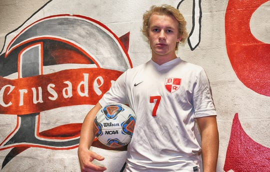 Delsea's Frank Knapp is the boys' soccer player of the year for The Daily Journal.