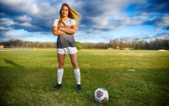 Delsea's Peyton Gilmore is the girls' soccer player of the year for The Daily Journal.
