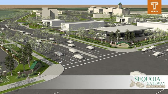 A rendition o the proposed Sequoia Gateway Commerce Center