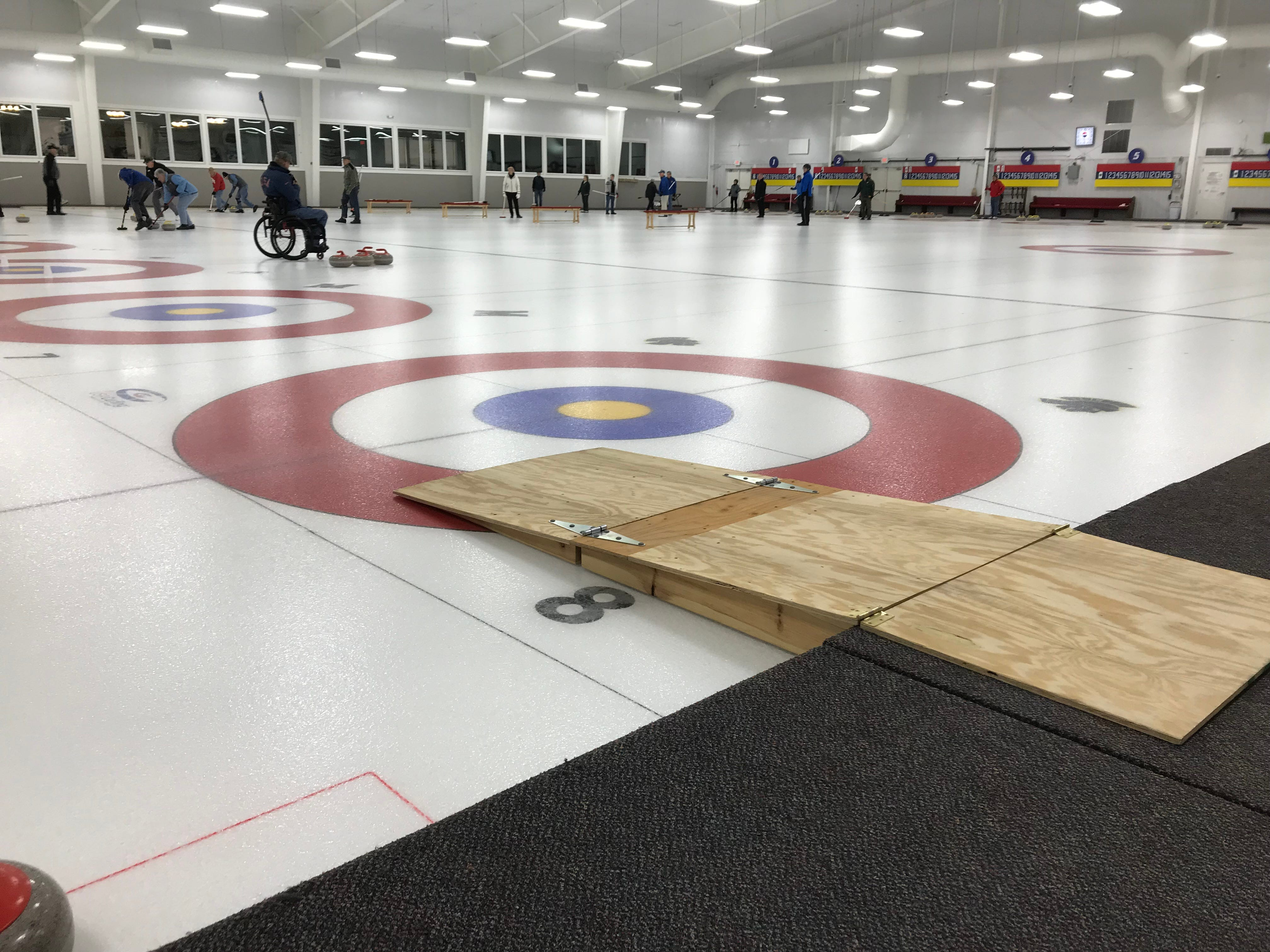 The Wausau Curling Center, completed in 2012, was designed to Olympic specifications. It also was designed to be accessible for athletes who use wheelchairs.