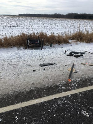 An 8-year-old child died in a horse-drawn buggy crash Wednesday in the Clark County township of Fremont.
