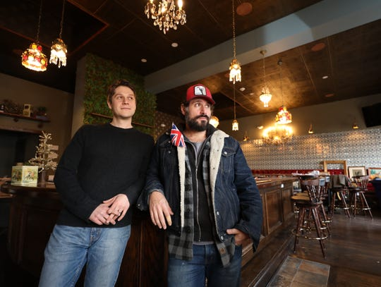 From left: John Poiarkoff, chef, and David DiBari, the chef/owner are pictured inside their new restaurant, The Rare Bit, on Cedar Street in Dobbs Ferry, Dec. 5, 2018.