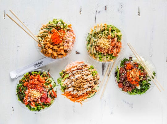 Poke Bros. offers cubed fish, fresh-cut vegetables and traditional flavorings on a bed of steamed rice, making the poké bowl a healthy meal.
