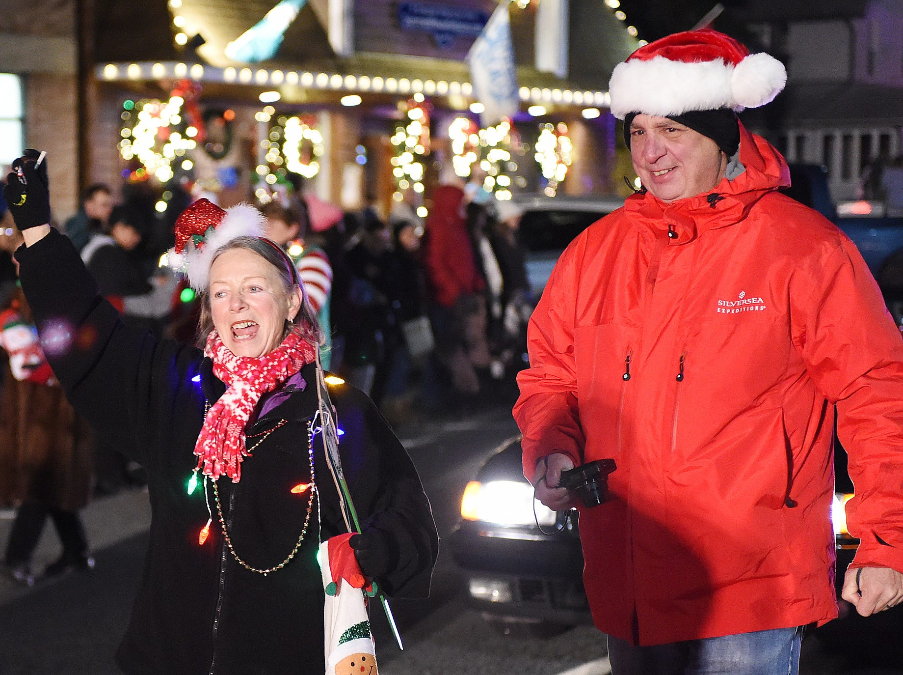 Rehoboth Beach held their Annual Hometown Christmas Parade on Tuesday December 5th in downtown Rehoboth with over 100 units participating to welcome Santa Claus for the Holiday Season. Special to the Daily Times / Chuck Snyder