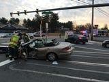 A crash in Newark Wednesday morning involving a DART bus injured several people.  Video by John J. Jankowski Jr. 12/5/18