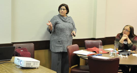 City of Wichita Falls, First Assistant City Attorney, Julia Vasquez spoke with The League of Women Voter and some election judges during a Q&A session about ethics in city government Wednesday afternoon.