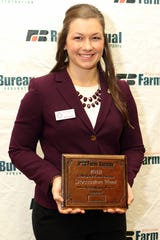 Kati Kindschuh was selected the winner of the Wisconsin Farm Bureau's Collegiate Discussion Meet contest at the organization's 99th Annual Meeting in Wisconsin Dells on Dec. 2.